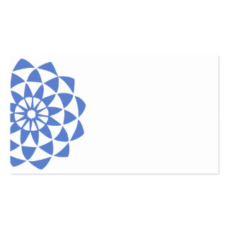 Blue Violet Lotus Double-Sided Standard Business Cards (Pack Of 100)