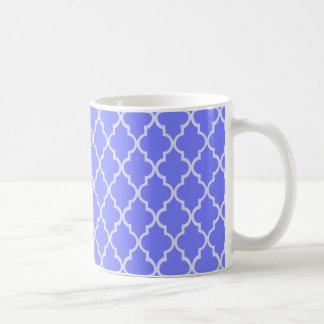 Blue Violet Orchid And White Moroccan Pattern Classic White Coffee Mug