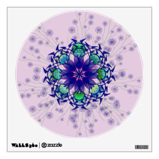 Blue Violet Perennial Wall Decal