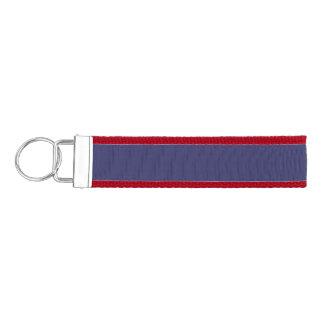Blue Violet Template Wrist Keychain