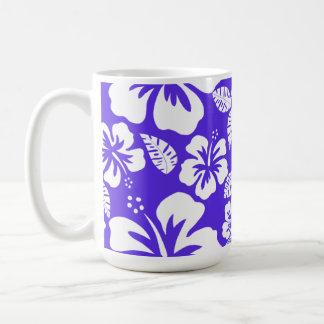 Blue Violet Tropical Hibiscus Coffee Mug