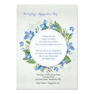 Blue Violets Invitation