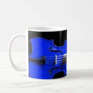 Blue Violin Design on a Mug