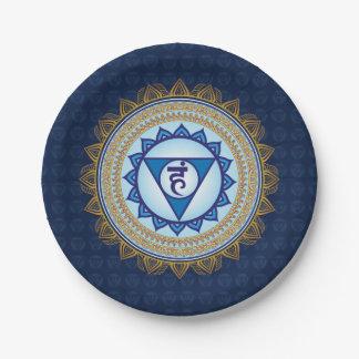 Blue Vishudda, 5th Chakra, Throat Chakra Plate