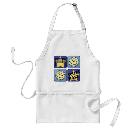 Blue Volleyball Adult Apron