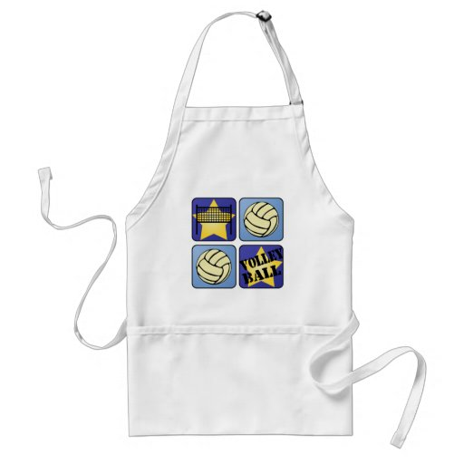Blue Volleyball Apron