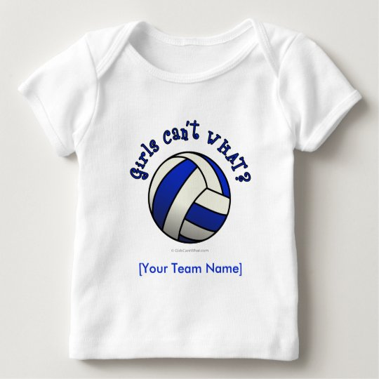 Blue Volleyball Baby T-Shirt