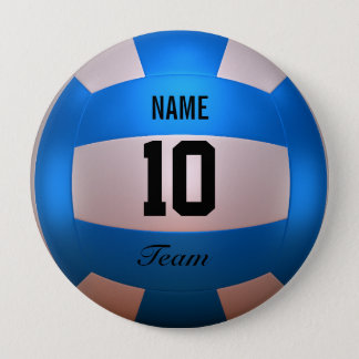 Blue Volleyball Button