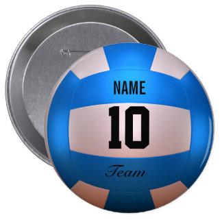 Blue Volleyball Button