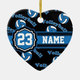 Blue Volleyball Ceramic Ornament