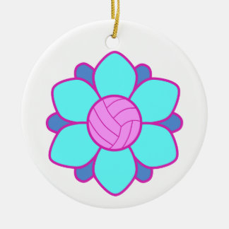 Blue Volleyball Girl Christmas Tree Ornament