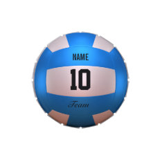 Blue Volleyball Jelly Belly Tins at Zazzle