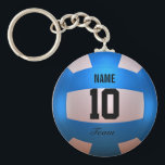 "Blue Volleyball Keychain<br><div class=""desc"">Volleyball design. Azure. 3d rendered in Blender 3D Cycles.  Art by Jos&#233; Ricardo.</div>"