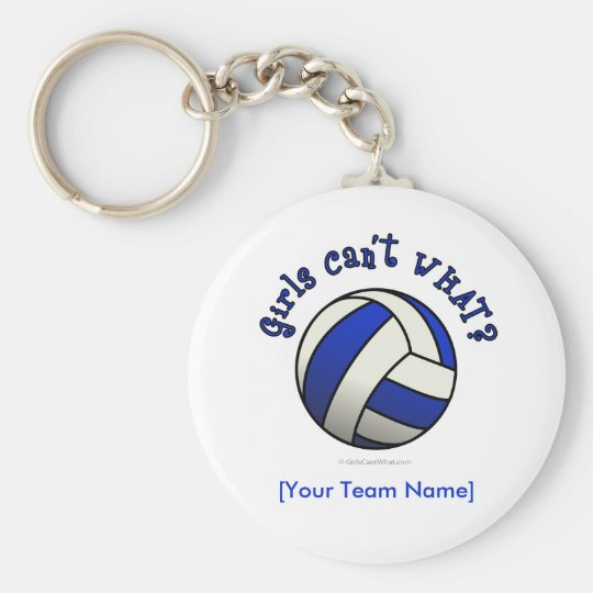 Blue Volleyball Keychain