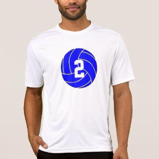 Blue Volleyball Men's Custom Jersey Number Shirt