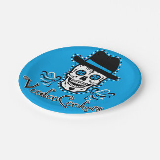 Blue VooDoo Cookers Paper Plates