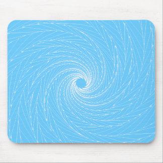 Blue Vortex Mouse Pad