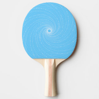 Blue Vortex Ping-Pong Paddle