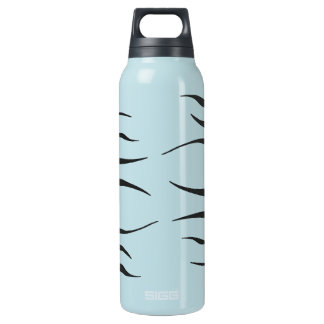 Blue w/ Black Flames Liberty Insulated Water Bottle