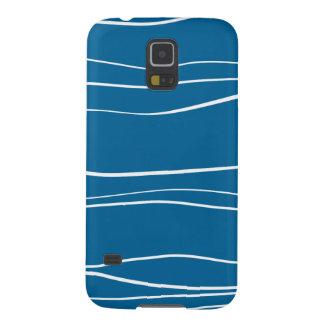 Blue w- Brush Strokes Galaxy S5 Cases