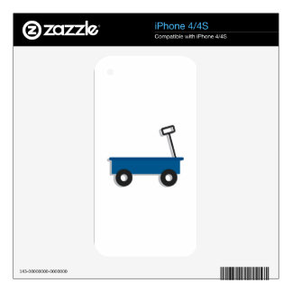 Blue Wagon iPhone 4S Decals