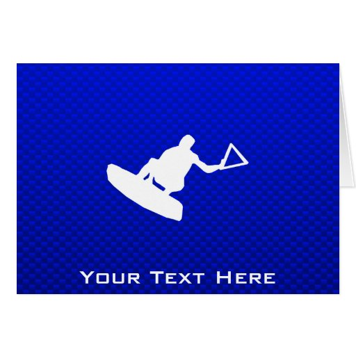 Blue Wakeboarder Greeting Cards