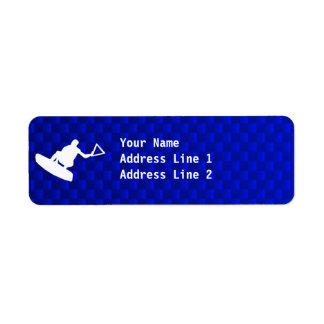 Blue Wakeboarder Label