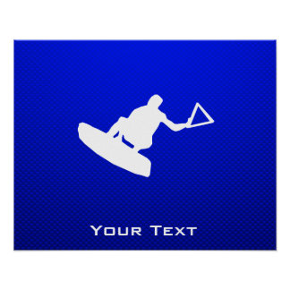 Blue Wakeboarder Poster