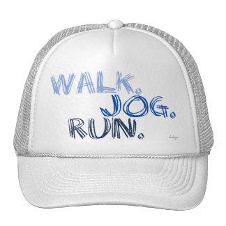 BLUE WALK JOG RUN (font SCRIBBLE) Trucker Hat