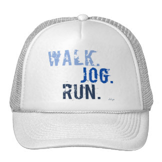 BLUE WALK JOG RUN (font SMUDGE) Trucker Hat