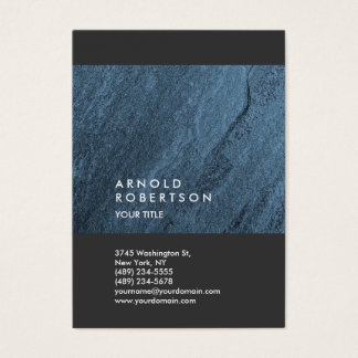 Blue Wall Design Trendy Large Professional Business Card