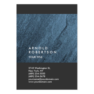 Blue Wall Design Trendy Large Professional Large Business Card