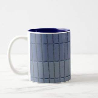 blue wall Two-Tone coffee mug