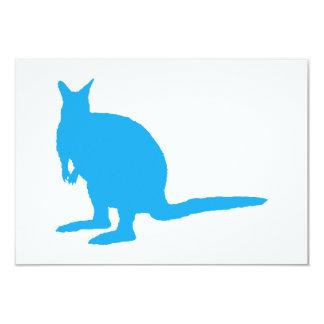 Blue Wallaby. 3.5x5 Paper Invitation Card