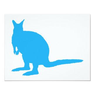 Blue Wallaby. 4.25x5.5 Paper Invitation Card