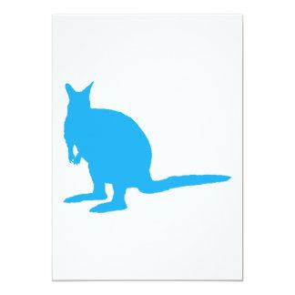 Blue Wallaby. 5x7 Paper Invitation Card