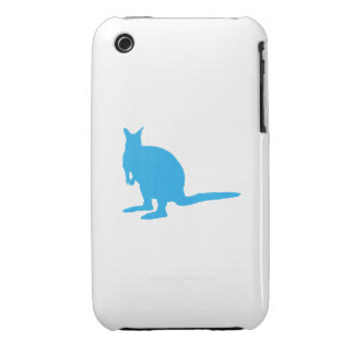 Blue Wallaby. iPhone 3 Case-Mate Cases