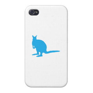 Blue Wallaby. iPhone 4 Cover