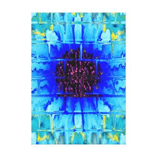 Blue Wallflower Canvas