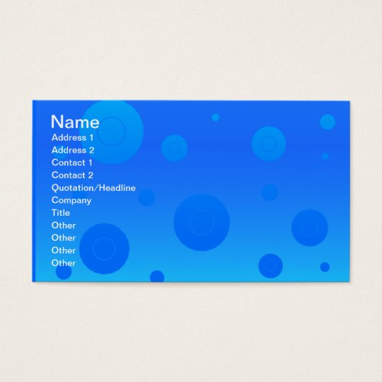 blue-wallpaper- polka dots bubbles patterns water business card