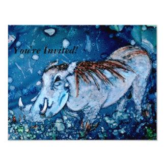 """Blue Warthog 4.25"""" X 5.5"""" Invitation Card"""