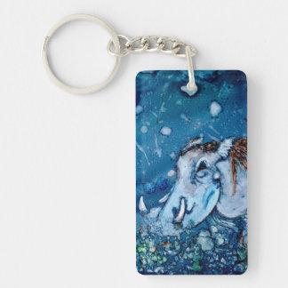 Blue Warthog Keychain