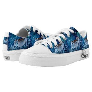 Blue Warthog Low-Top Sneakers