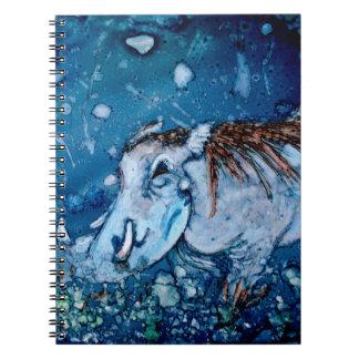 Blue Warthog Spiral Notebook