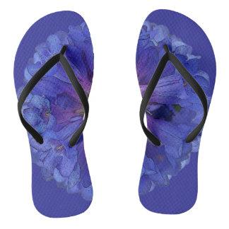 Blue Wasatch Penstemon Flower Flip Flops