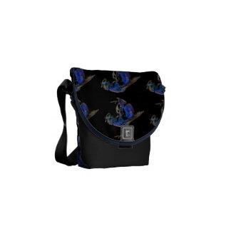 Blue Wasp Messenger Bag