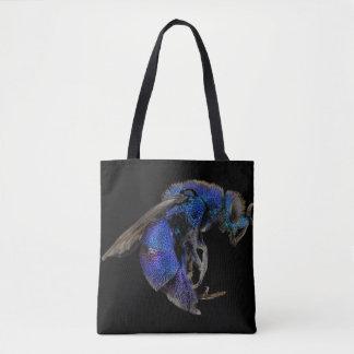 Blue Wasp Tote Bag