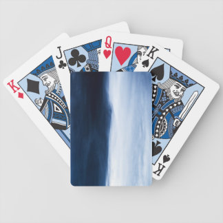 Blue Water Abstract Bicycle Playing Cards