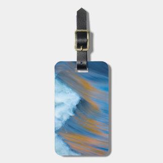 Blue water abstract, Canada Bag Tag