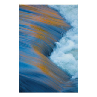 Blue water abstract, Canada Poster